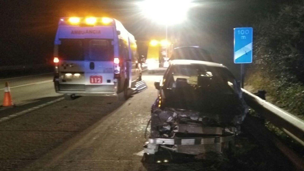 Uno de los vehículos accidentados en Llanera