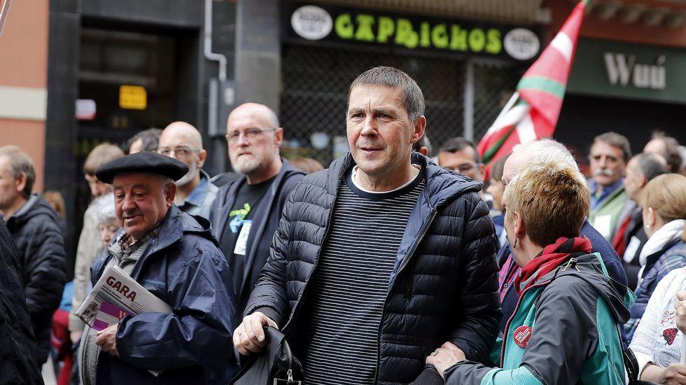 Otegi, recibido por parlamentarios de la CUP