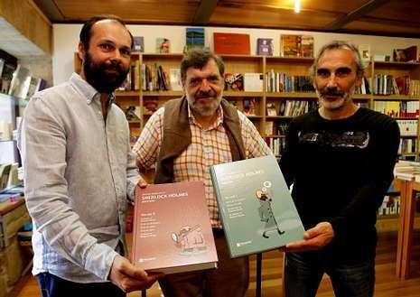 Xesús Fraga, Bieito Iglesias y Manuel Vázquez.