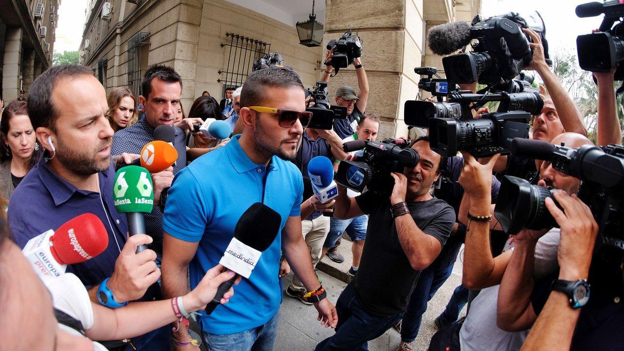 .José Ángel Boza, el tercer miembro de La Manada que se ha presentado ante el juzgado de Sevilla