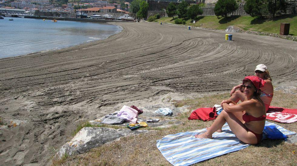 Playa de Barbeira, en Baiona