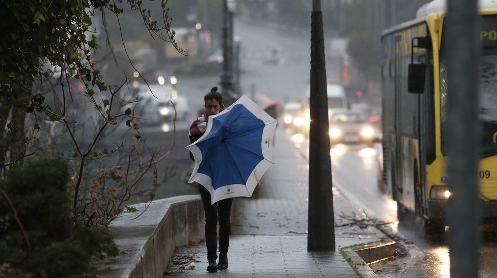 Hoy no es día para los paraguas en la ciudad de As Burgas