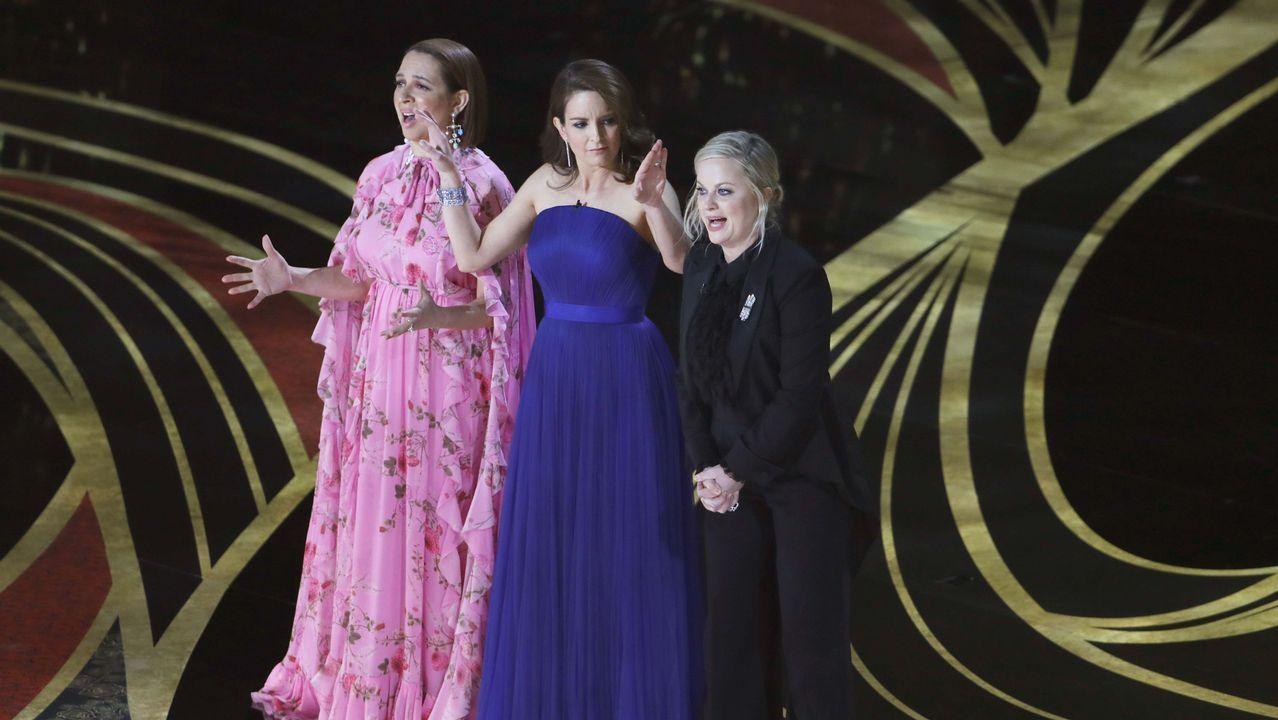Tina Fey, Maya Rudolph y Amy Poehler presentaron el primer Óscar