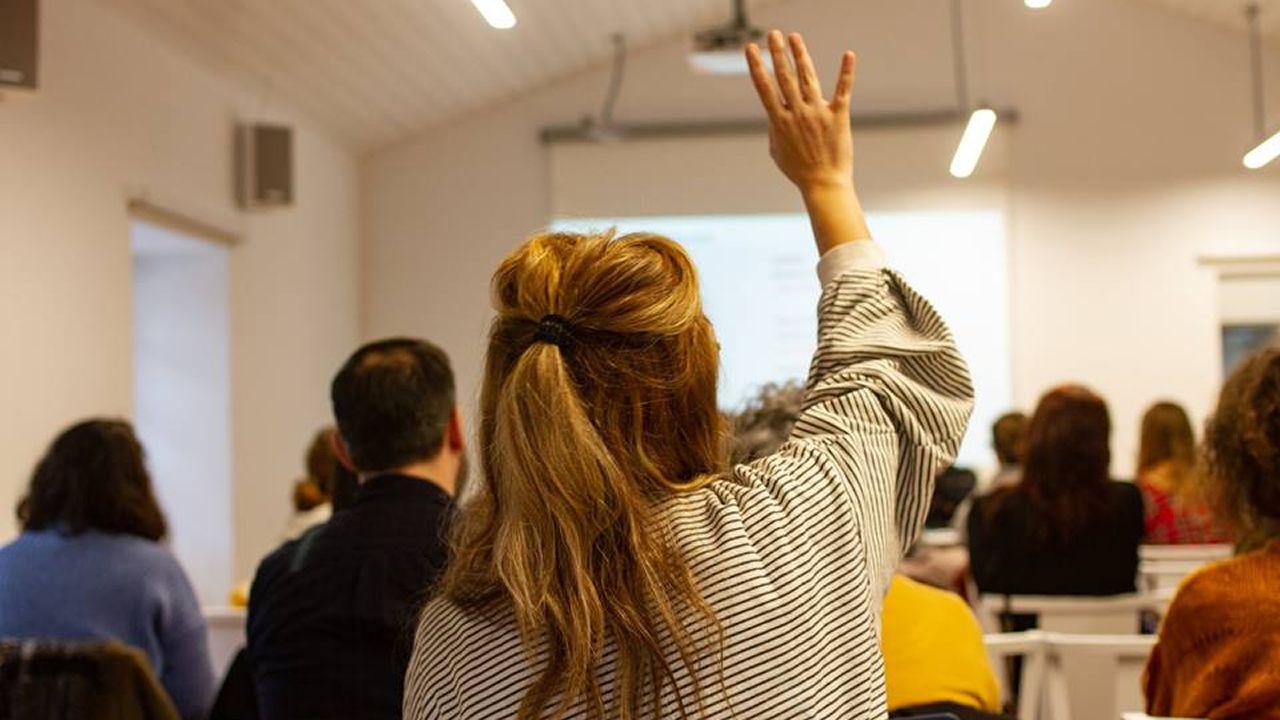 Audiencia durante unas de las charlas del las jornadas sobre música y feminismo celebradas en A Coruña