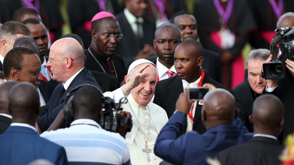 El papa inicia en Kenia su viaje a Centroáfrica.Presentación onte deste concerto benéfico que terá lugar en Mondoñedo