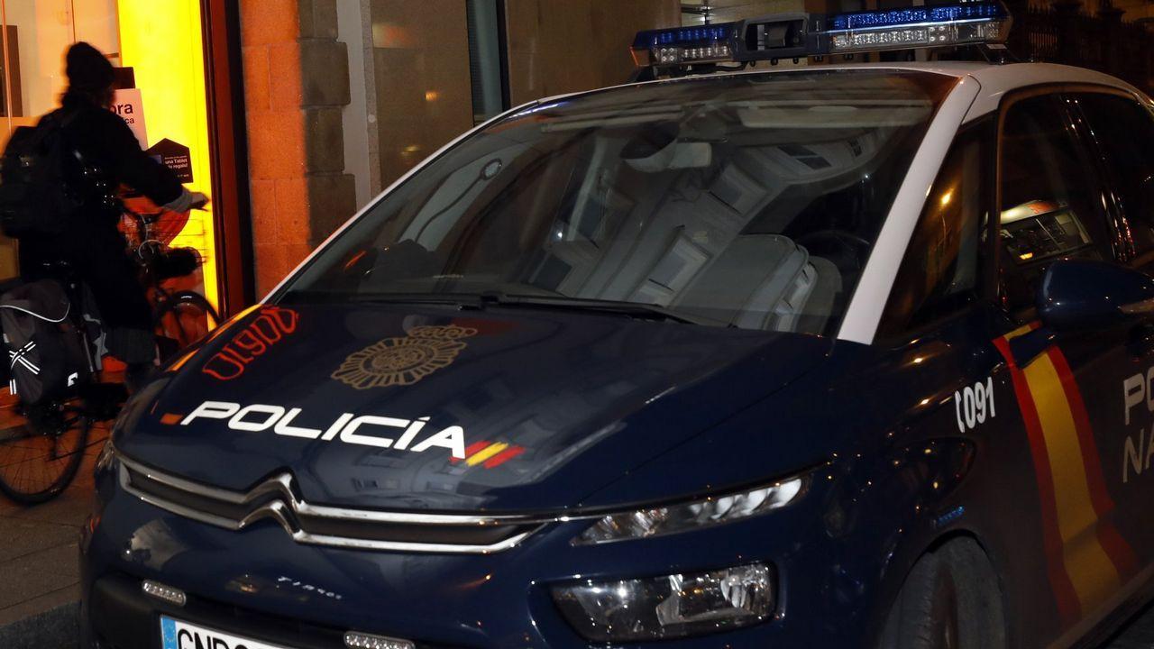 Cuatro escenas del altercado del campus de El Milán.Cobre incautado en la operación