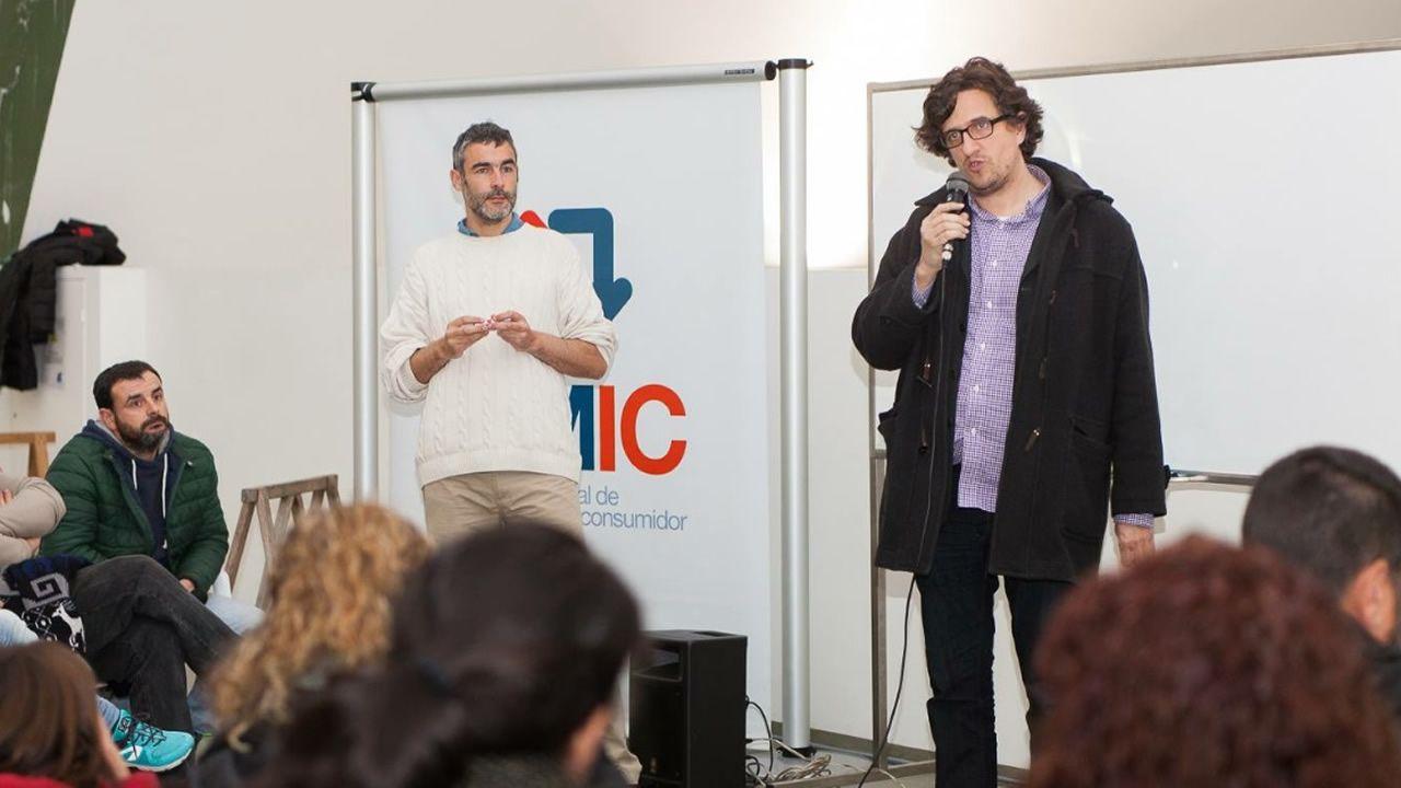 Sigue en directo el pleno municipal de A Coruña.Toni Lodeiro y Alberto Lema