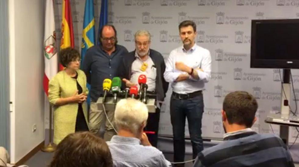 Por la izquierda, Castaño, Suárez, Rosell y Pérez
