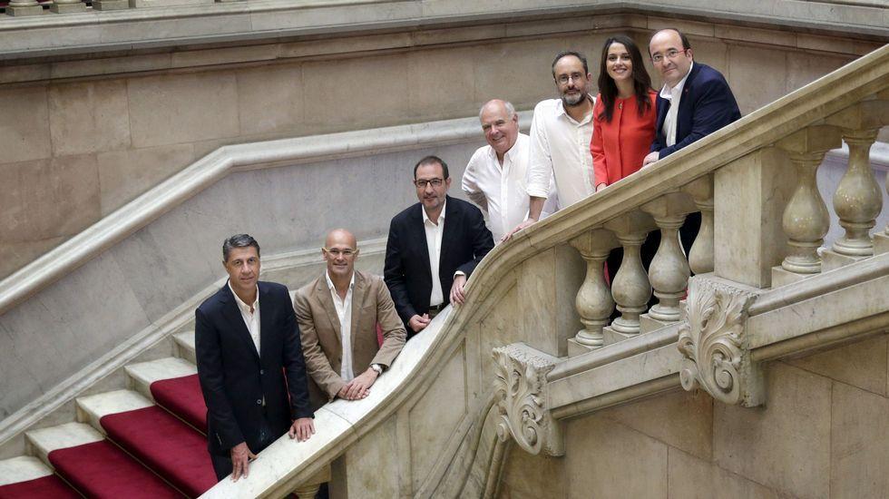 Los cabezas de lista de las elecciones catalanas.