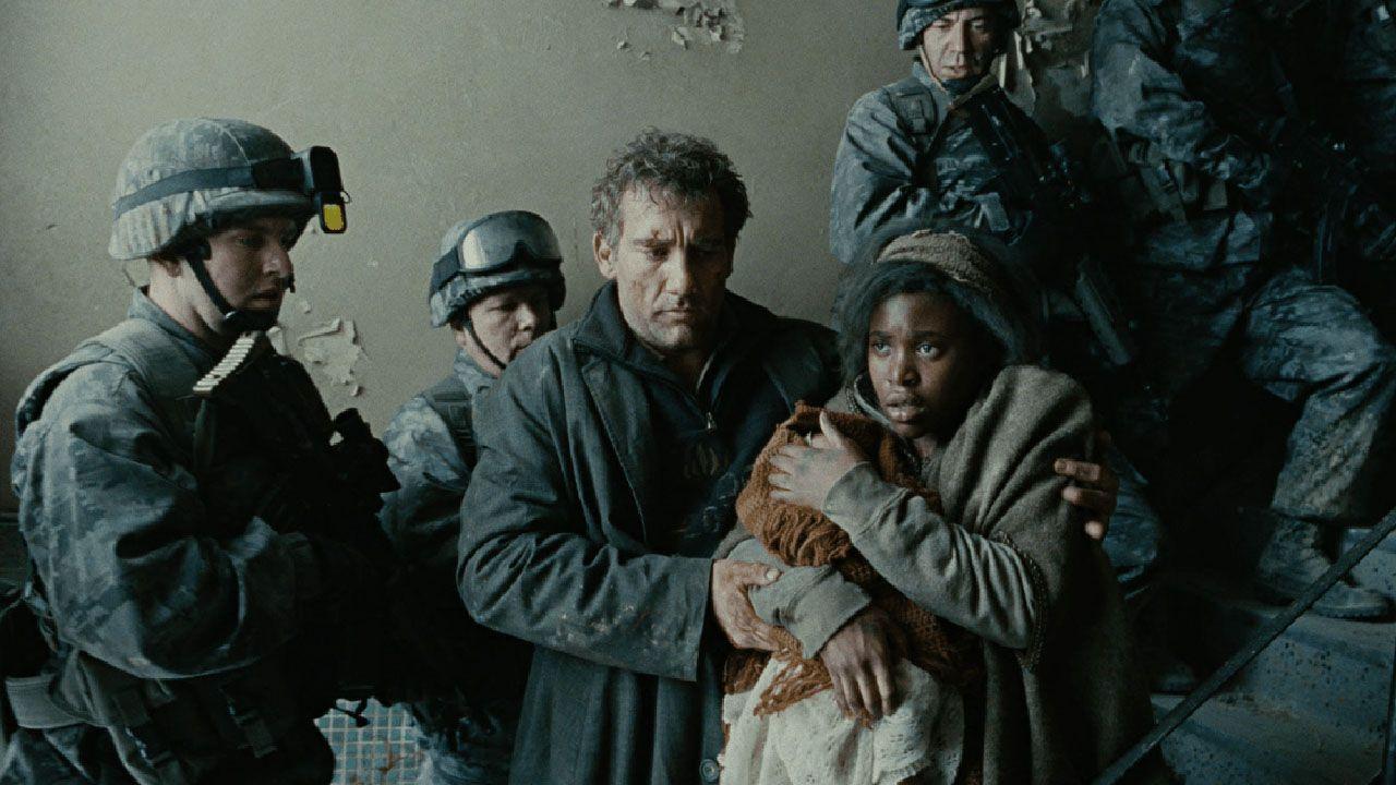 Mesa electoral.Un fotograma de la película «Hijos de los hombres»