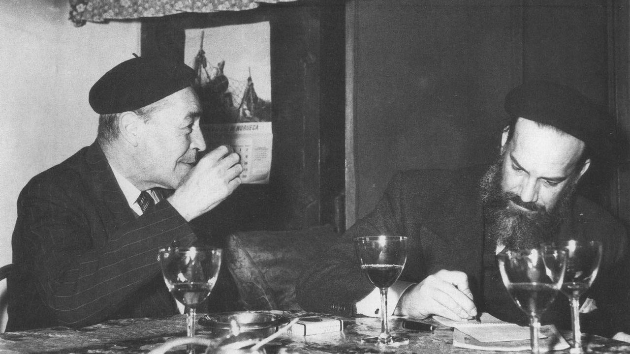 Camilo José Cela, con Josep Pla en casa de este