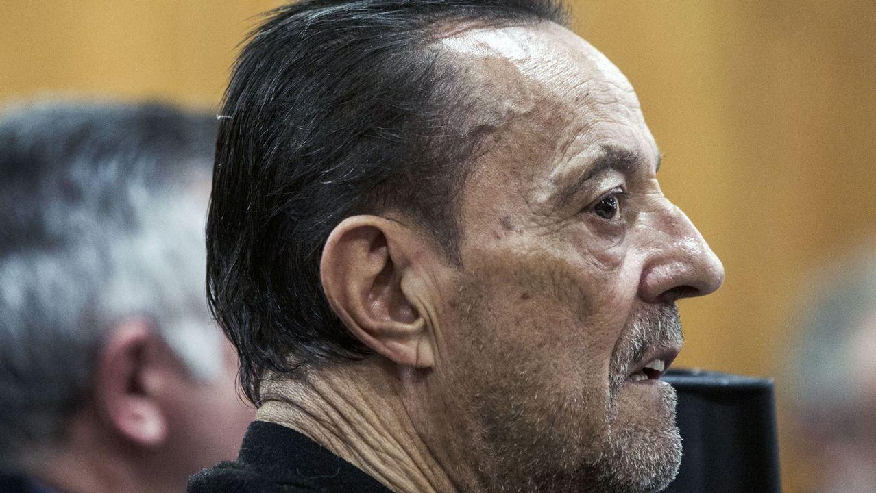 El traslado de David Pérez Lago y otros seis detenidos en la Operación Mito a la Audiencia Nacional.Julián Muñoz durante el juicio del caso Malaya