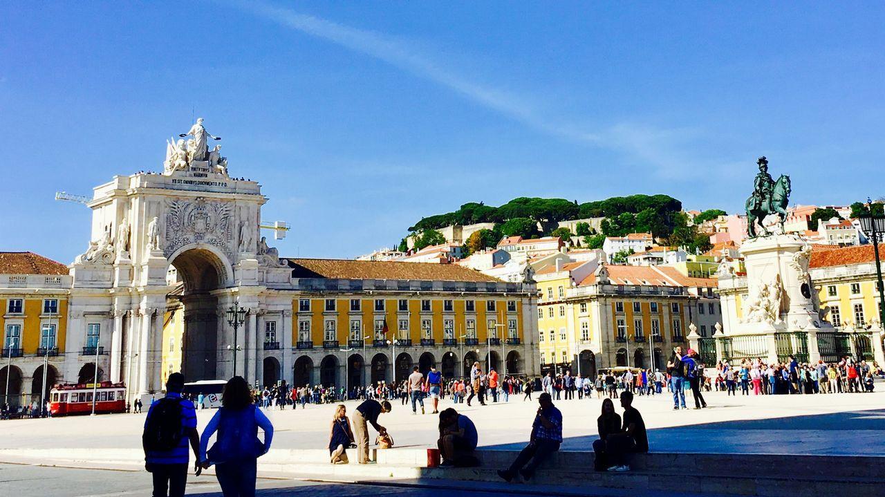 .Plaza del Comercio de Lisboa, uno de los lugares más turísticos de la capital portuguesa