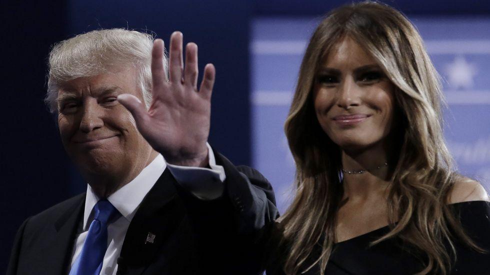 Trump, junto a su esposa Melania.