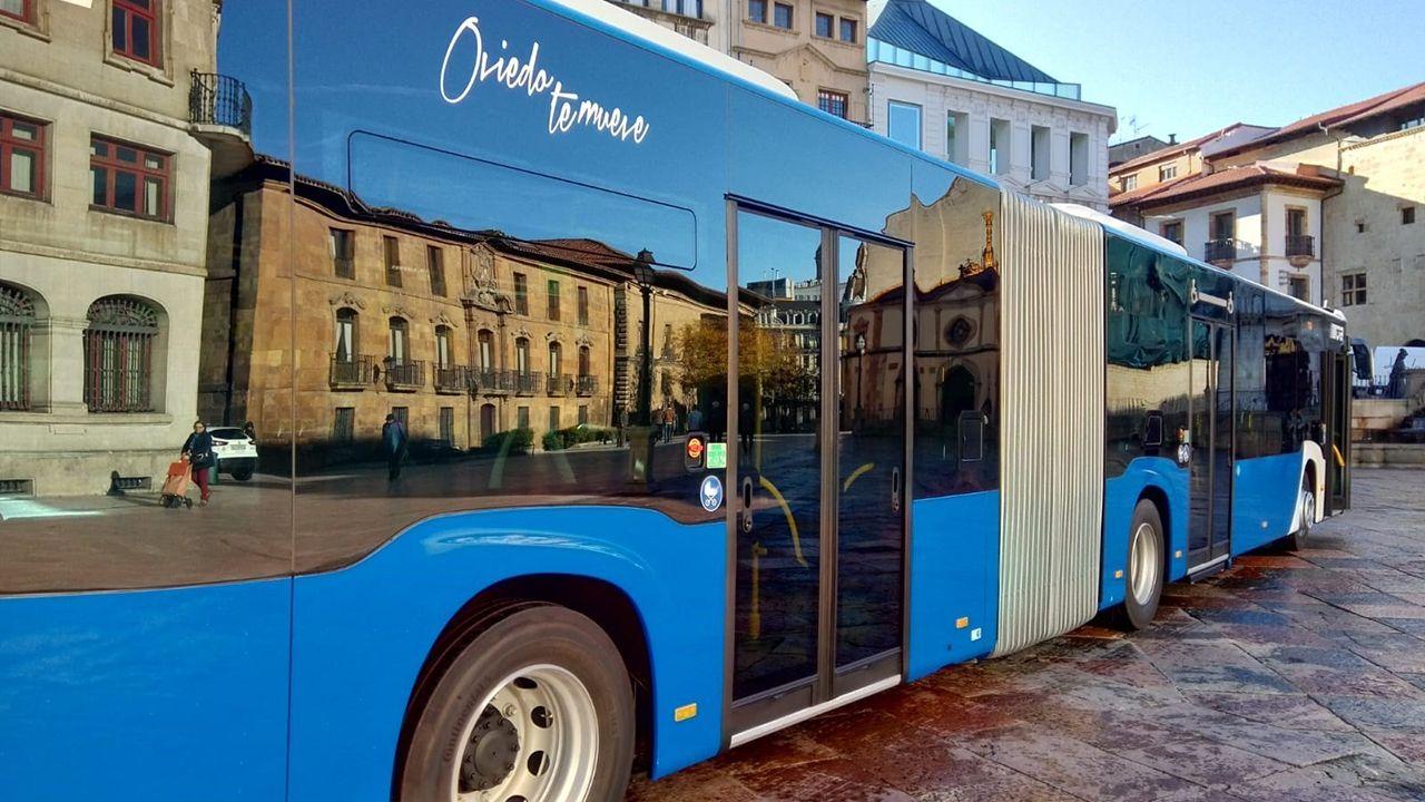 Nuevos autobús articulado de Oviedo