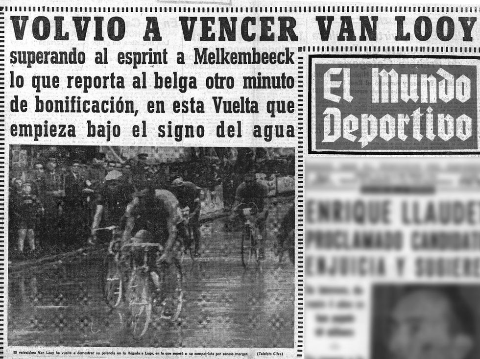Portada de «El Mundo Deportivo» con la foto del esprint de Lugo.