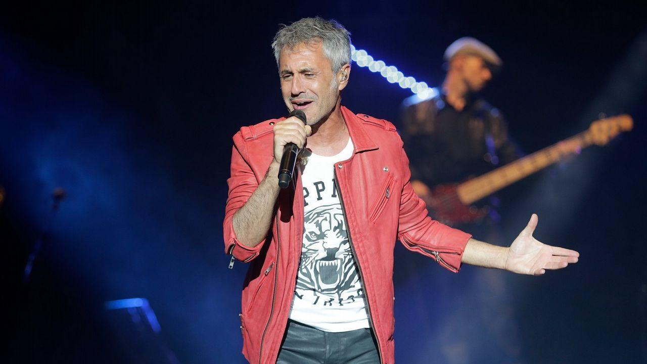 David Bisbal durante su actuación en el festival Viña del Mar de Chile esta semana.