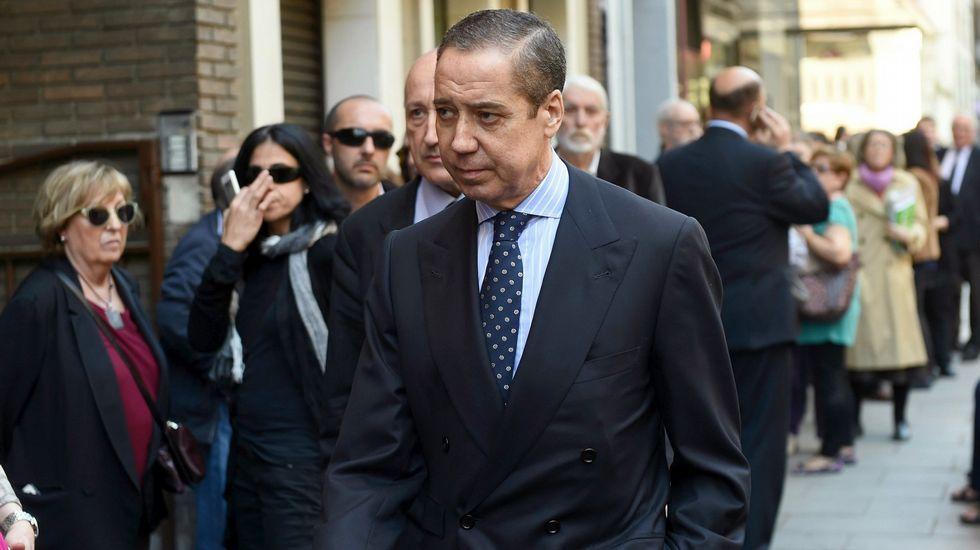Aznarh.Javier López Madrid, a su salida de la Audiencia Nacional tras pagar una fianza de 100.000 euros.