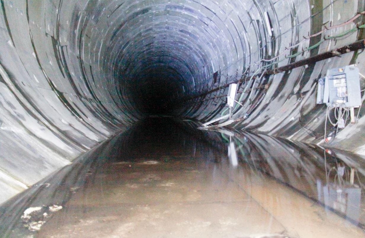 imágenes del tunelón inundado