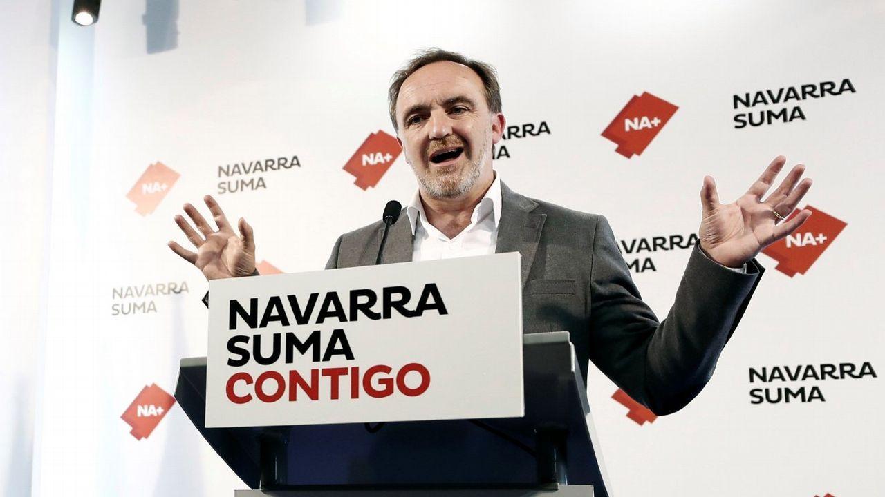Javier Esparza (UPN) se presentó con PP y Ciudadanos en la coalición Navarra Suma
