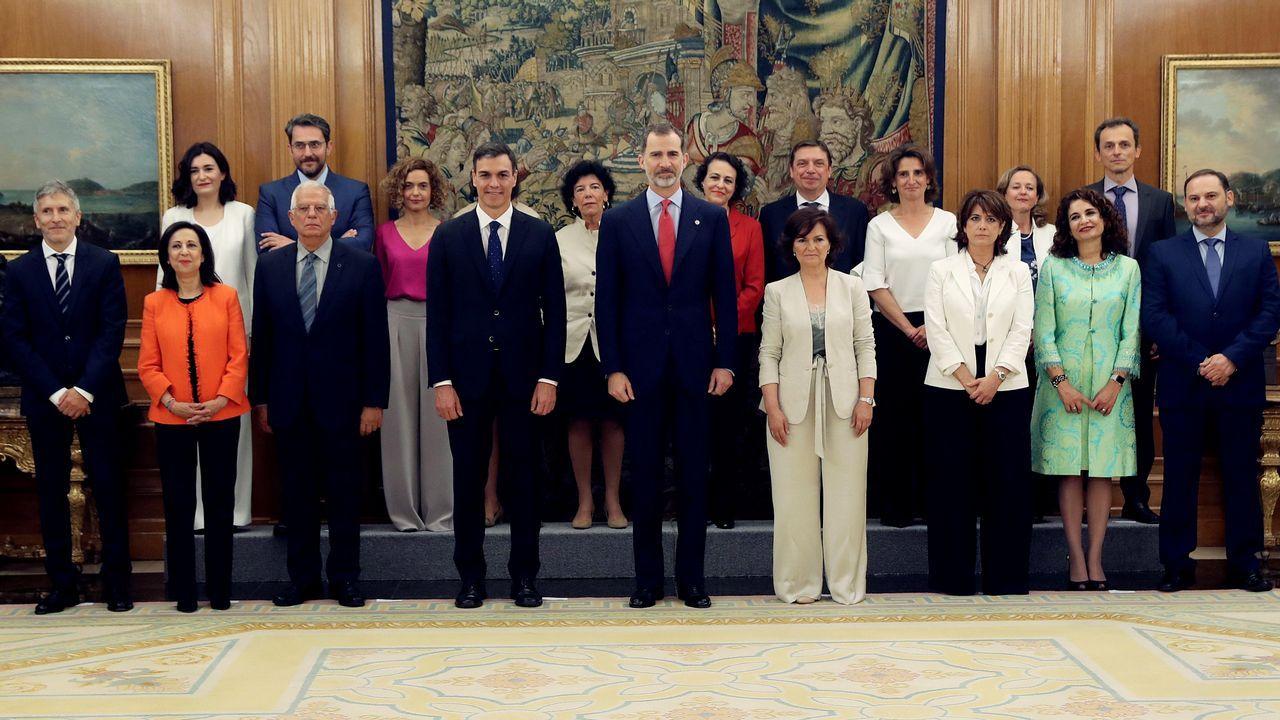 El Gobierno de Pedro Sánchez, con Huerta y Montón, tras  tomar posesión el pasado 7 de junio