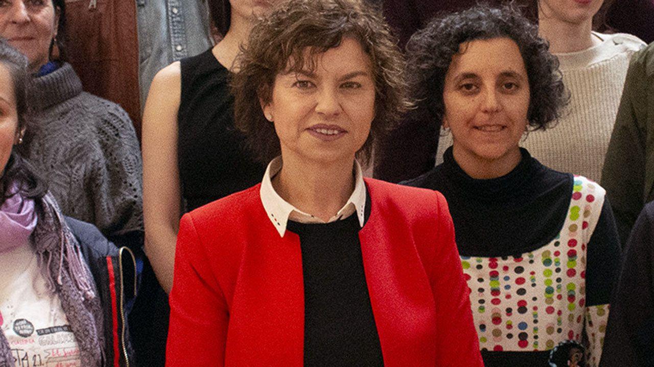 La concejala de Educación, Montserrat López, durante la presentación de FETEN