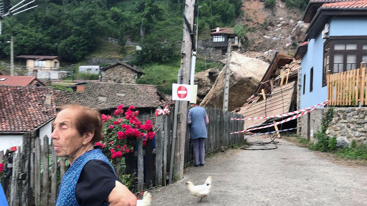 Isabel Lorenzo, de 90 años, es la vecina de La Cortina que fue testigo del argayo