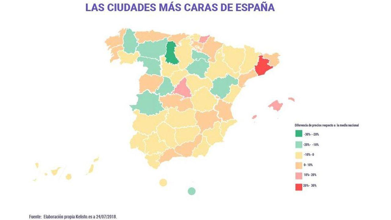 Las ciudades más caras de España según kelisto.es