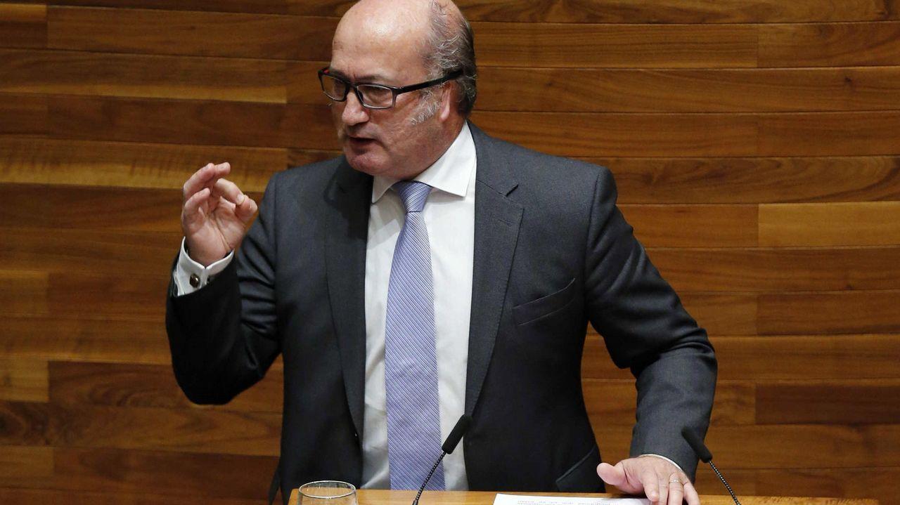 El diputado del PP Luis Venta durante su intervención en la tercera jornada del debate de orientación política