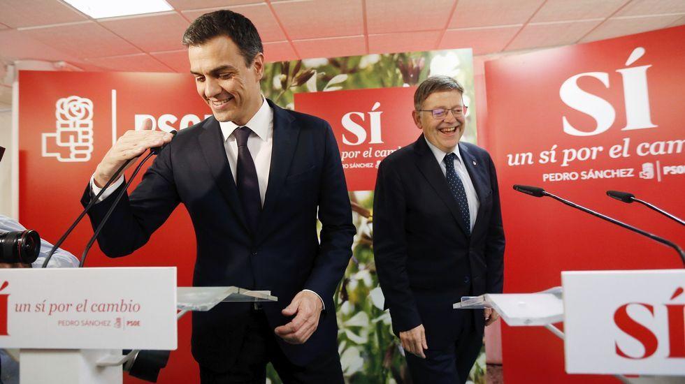Pedro Sánchez: «Si no gana el PSOE en España, no habrá cambio».Rousseff, entre Maduro y Mujica en un acto en Montevideo en el año 2013.