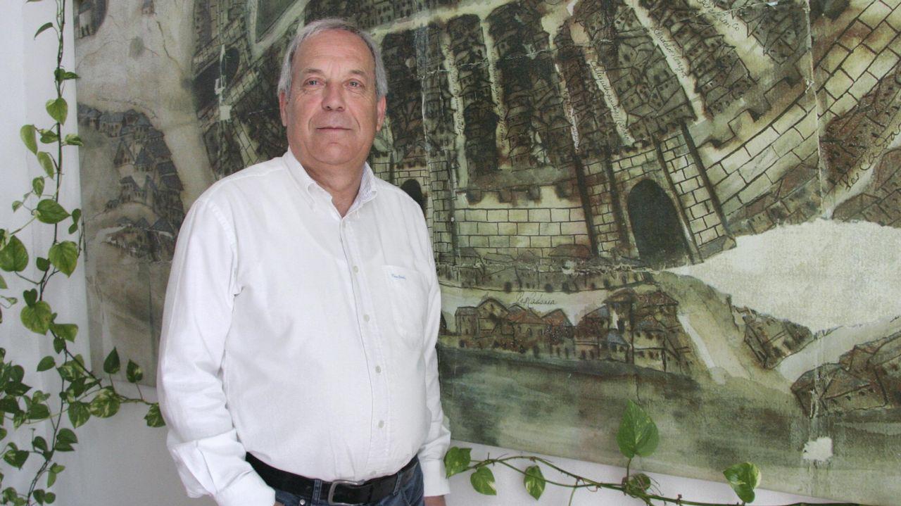 Rueda de prensa del ya exalcalde de Betanzos Ramon García.