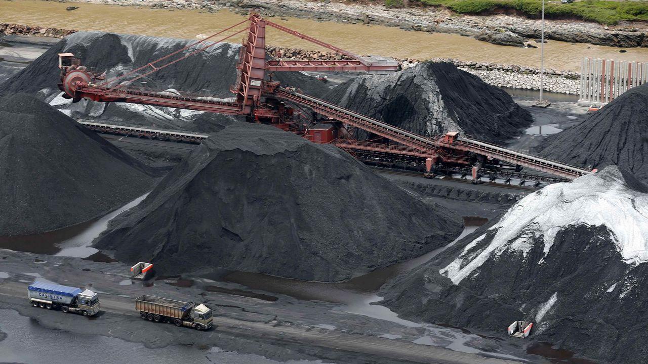 Pedro Duque muestra su intención de subsanar «posibles errores fiscales sin intencionalidad».Vista del parque de carbones de Aboño