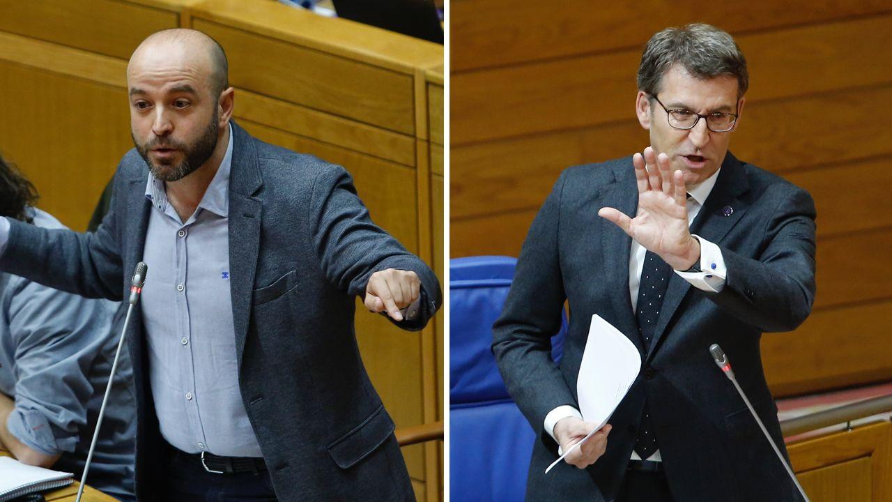 Tensa discusión entre Feijoo y Villares a cuenta del conflicto de la justicia.