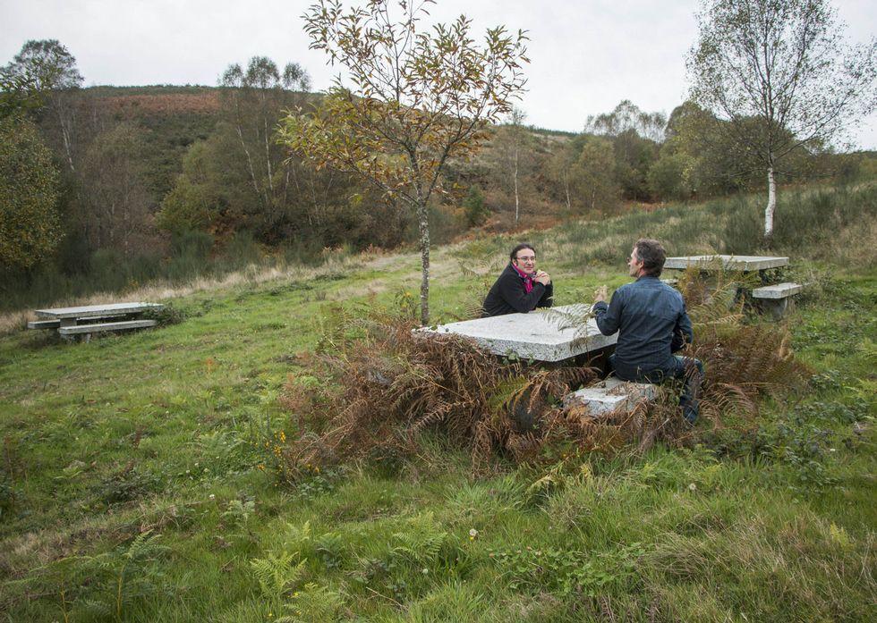 La maleza crece en el área recreativa de Val do Mao, cerca del santuario de San Eufrasio.