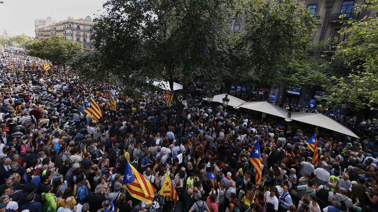Protesta en la Rambla Catalunya