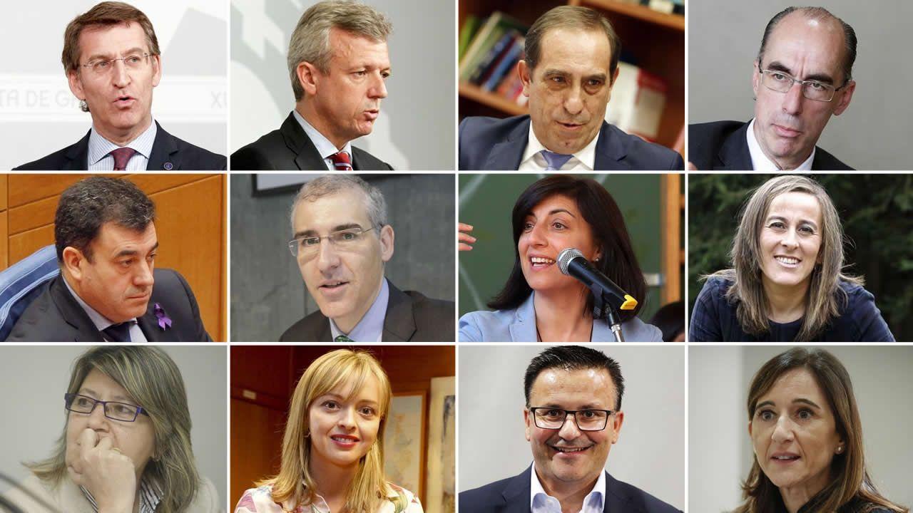 Así es el nuevo Gobierno de Feijoo.El presidente del gobierno Pedro Sánchez, durante su reunión con reúne con el Presidente del principado Asturias, Javier Fernández, esta mañana en el Palacio de La Moncloa