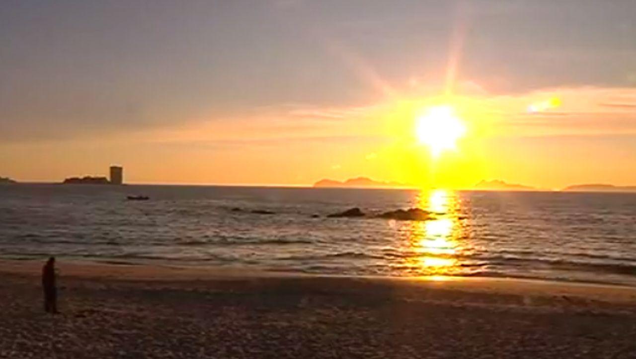 El último atardecer del verano en Vigo.