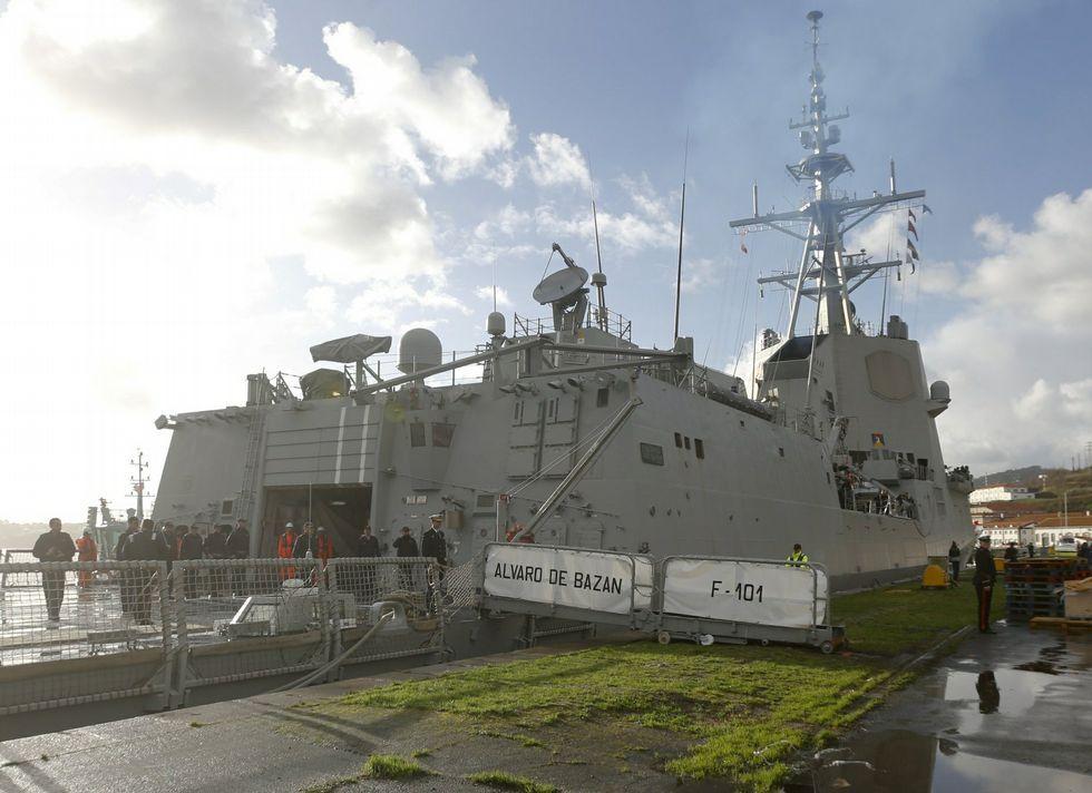 La fragata «Álvaro de Bazán» partió de la base de A Graña el pasado 12 de enero.