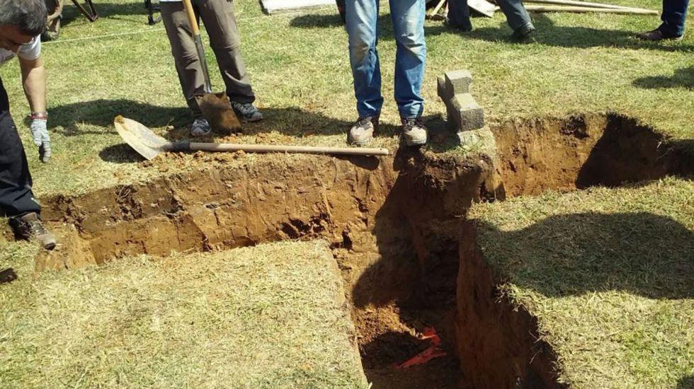 Excavaciones en Bañugues.Excavación en Bañugues