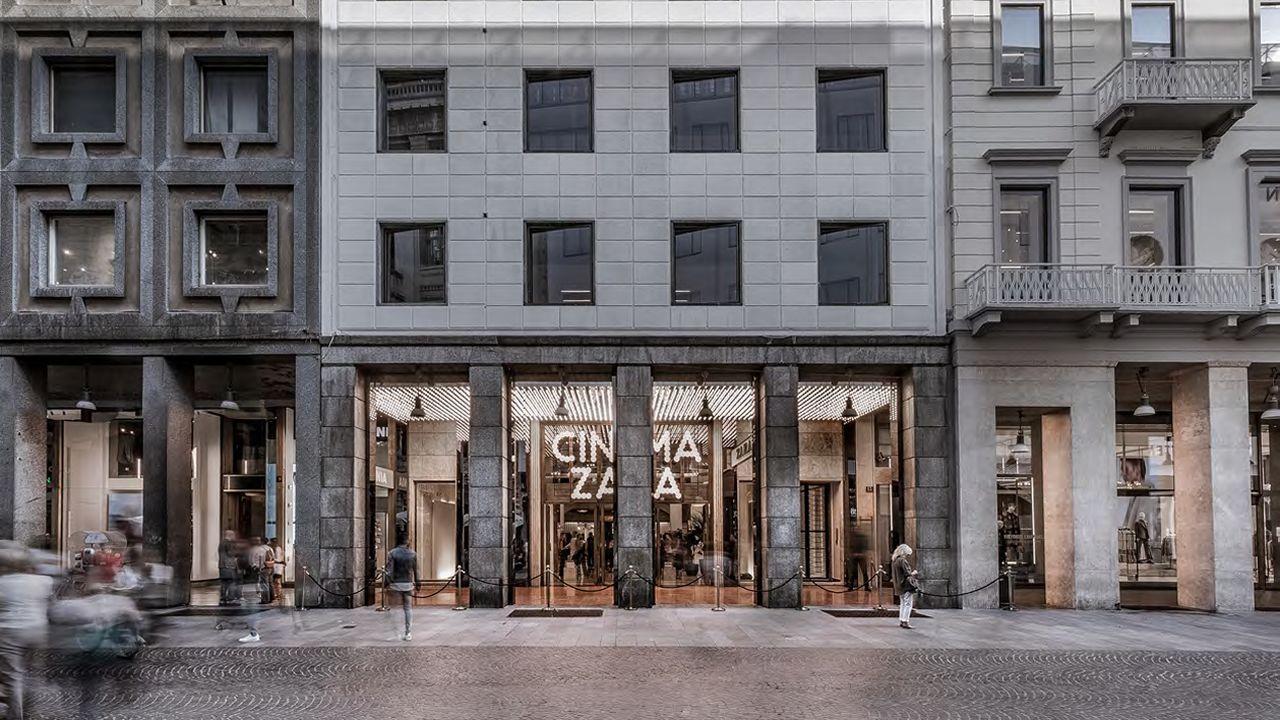 El exterior de la tienda del Corso Vittorio Emanuele