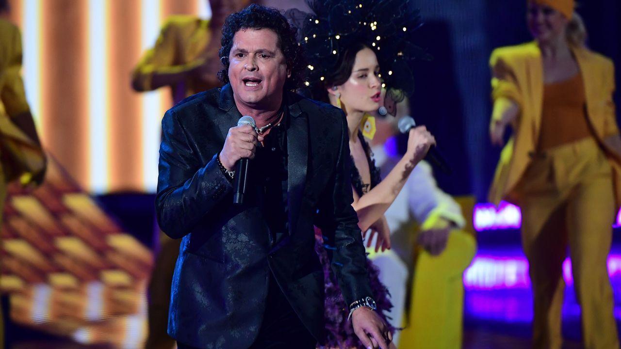 Carlos Vives, durante su actuación
