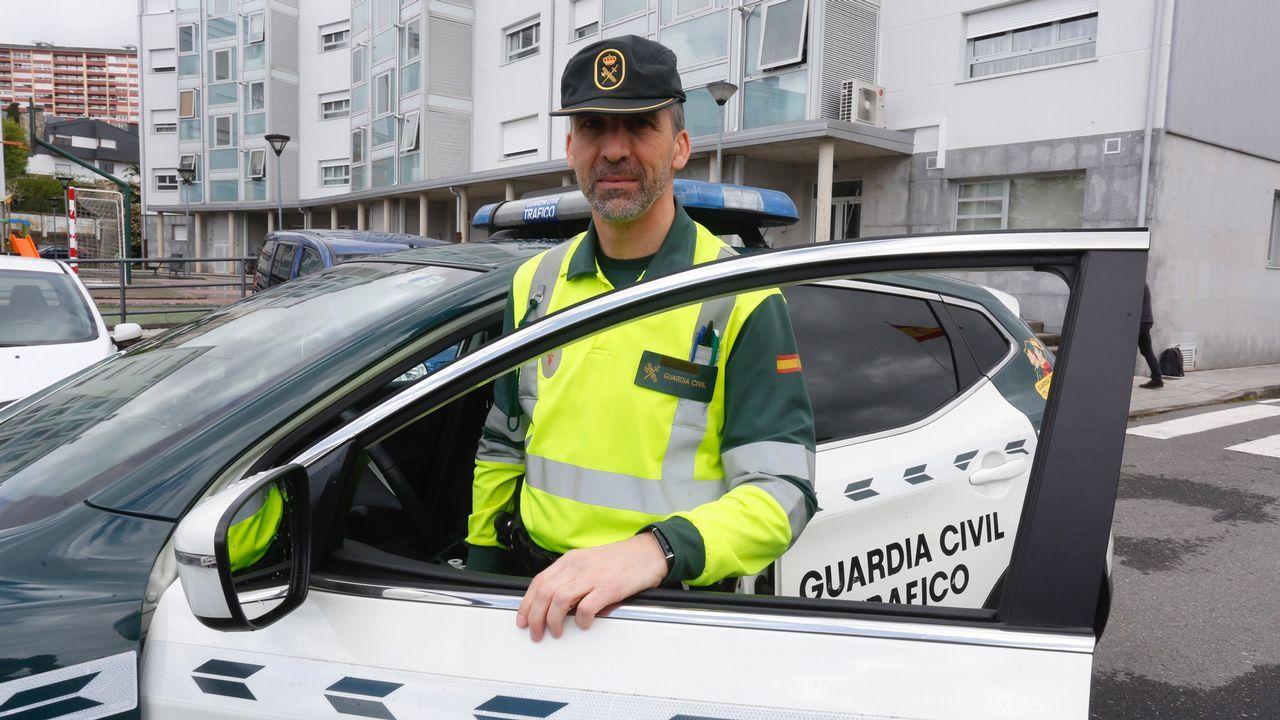 Jesús Firvida, uno de los guardias civiles que asistieron a la parturienta en la autopista