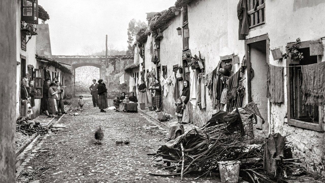 Viejas casas en Villaviciosa