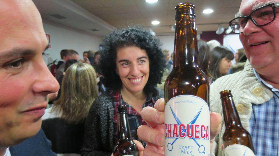 Presentación de la cerveza Chacueca en el Centro do Viño da Ribeira Sacra de Monforte, en imagen de archivo