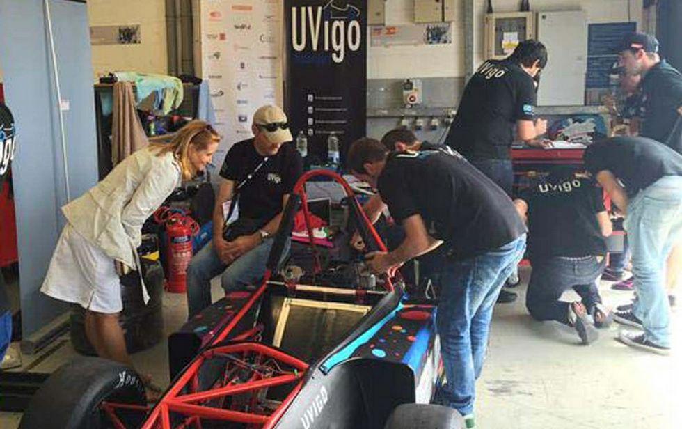 No circuito de Silverstone o coche de Uvigo Motorsport non arrancou por un erro no motor.