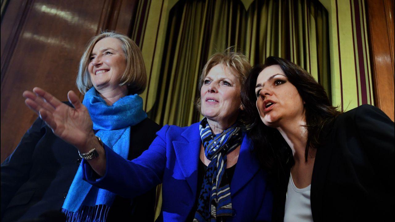 De izquierda a derecha, las diputadas conservadoras Sarah Wollaston, Anna Soubry y Heidi Allen