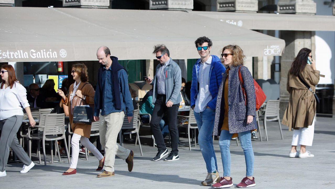 Alonso Aznar, a la derecha, con otros amigos de Marta Ortega y Carlos Torreta