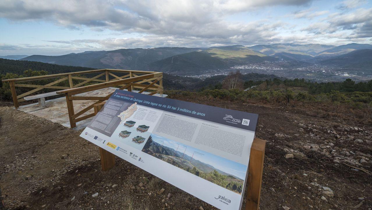 Una visita en imágenes al Carreiro do Castro de Seceda.Mirador geológico de A Pómez, en la carretera de San Clodio al Alto da Moá, en el municipio de Ribas de Sil