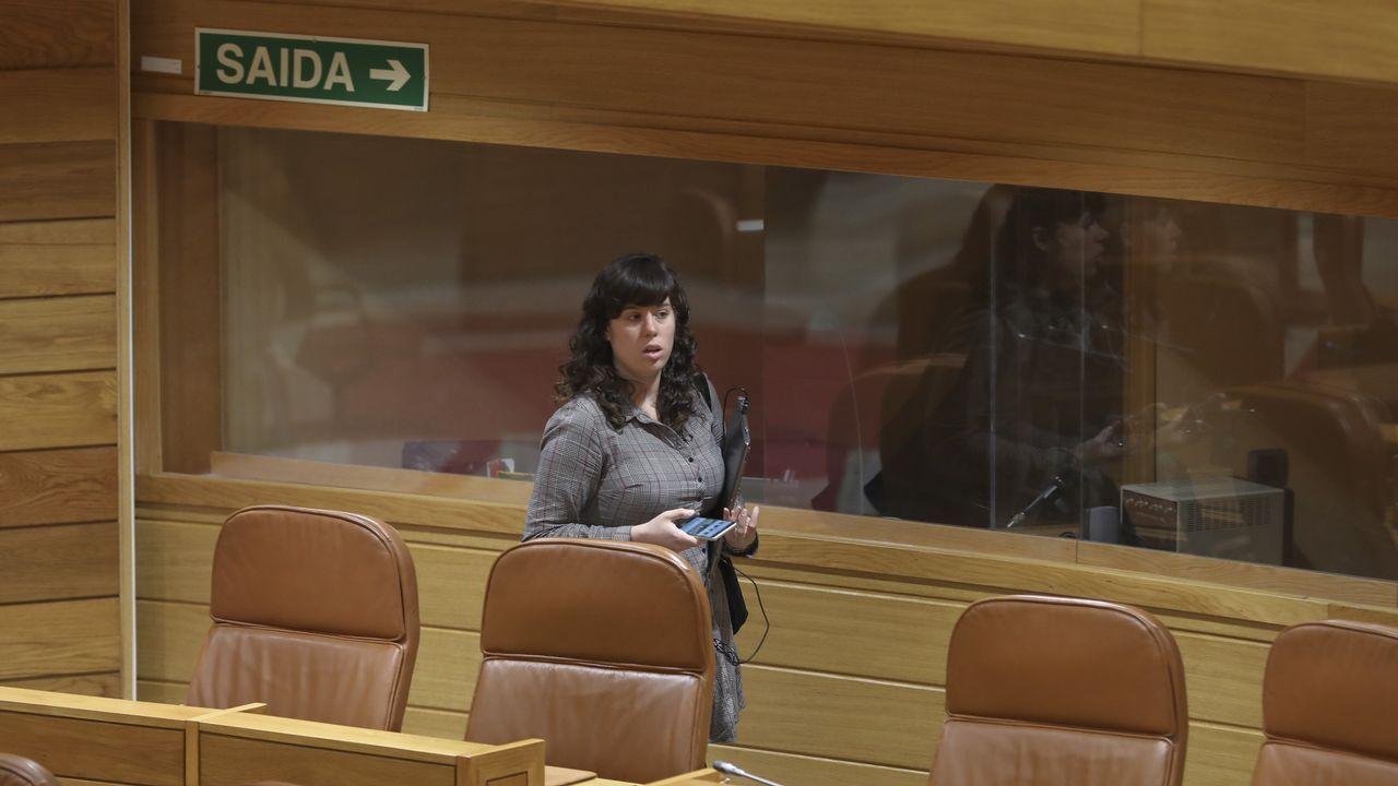 Sigue en directo la rueda de prensa sobre los resultados de la consulta interna sobre Paula Quinteiroen En Marea.Sucesión al frente de la alcaldía de Teo. En la imagen, Rafael Sisto y Martiño Noriega