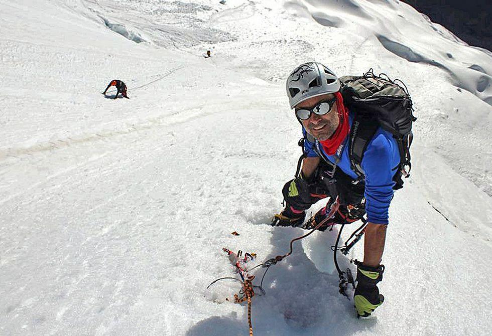 Villar señaló que se muestra satisfecho con la experiencia pese a no conseguir hacer cumbre.